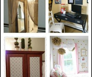10 easy projects to decorate and personalize a rental home, military housing or even your own home.