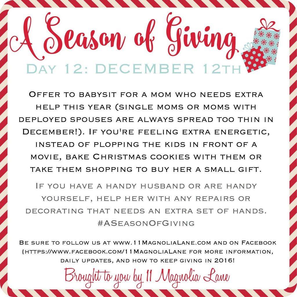 A Season of Giving: Day 12
