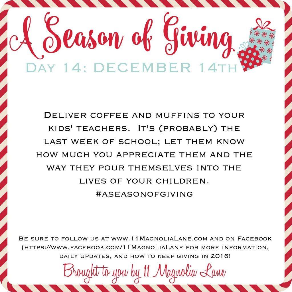 A Season of Giving: Day 14