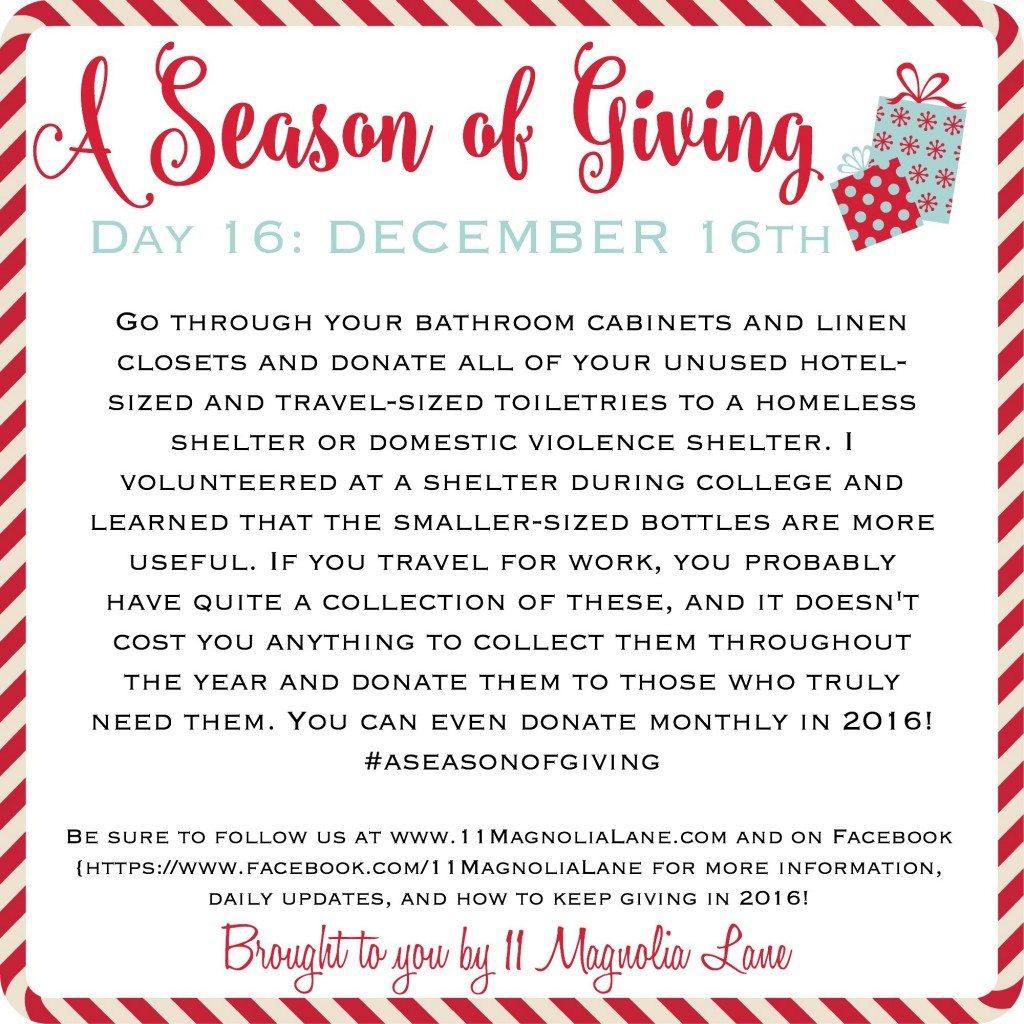 A Season of Giving: Day 16