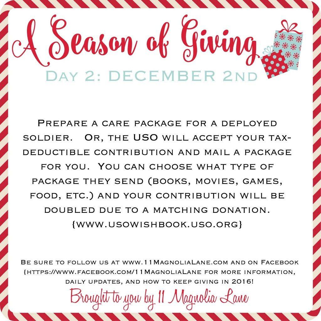 A Season of Giving 2015: Day 2
