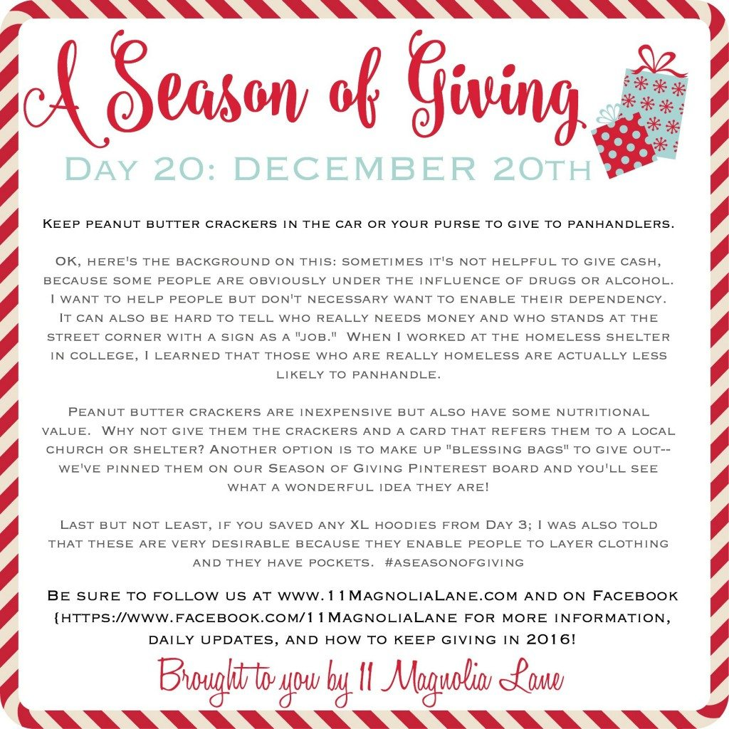 A Season of Giving: Day 20