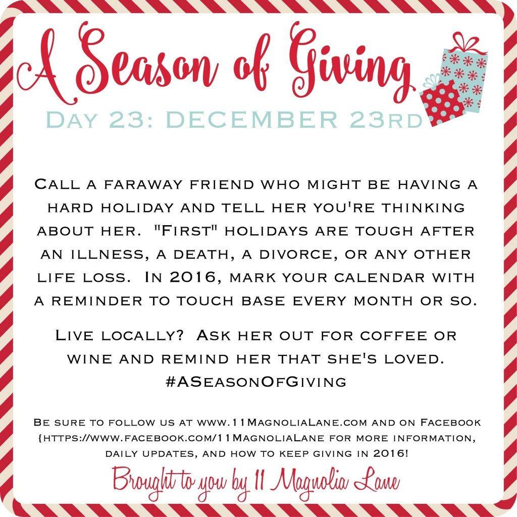 A Season of Giving: Day 23