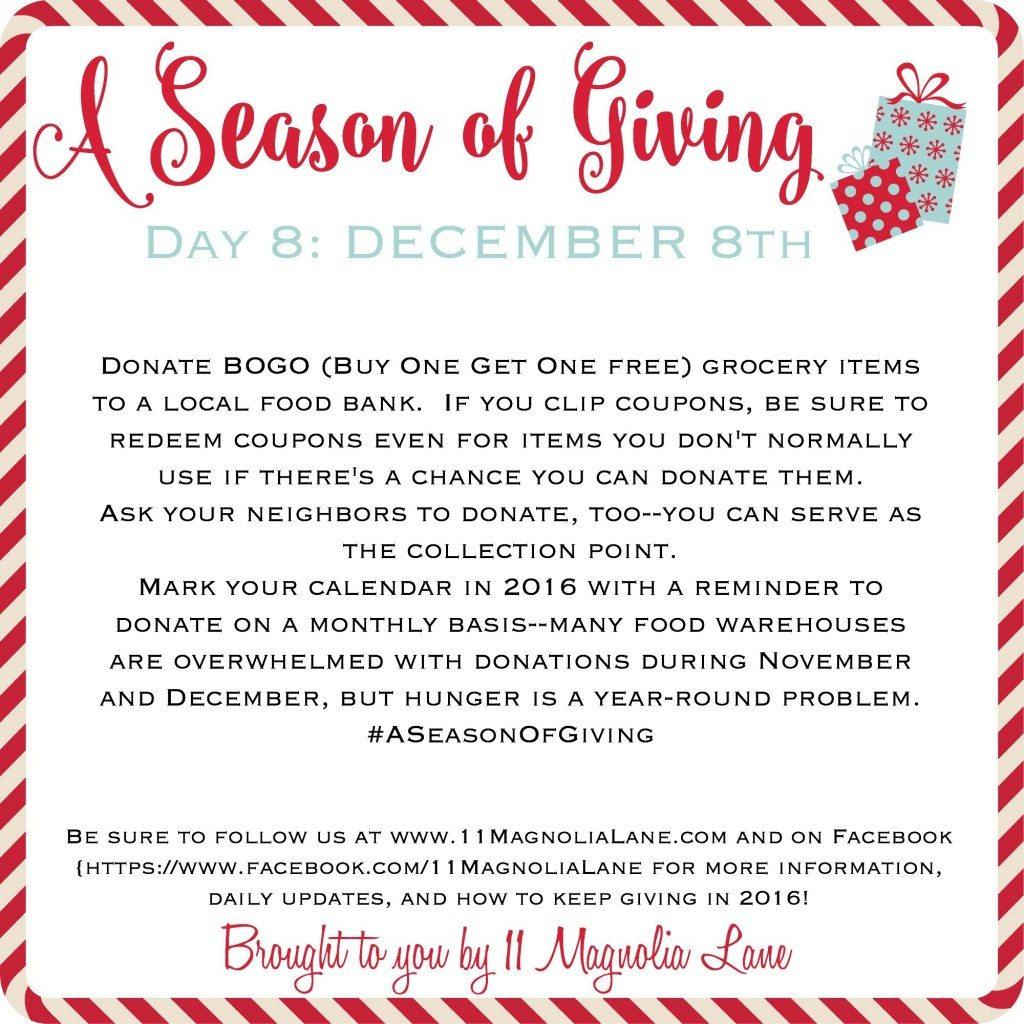 A Season of Giving: Day 8