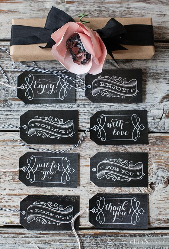 {Download these lovely gift tags here}