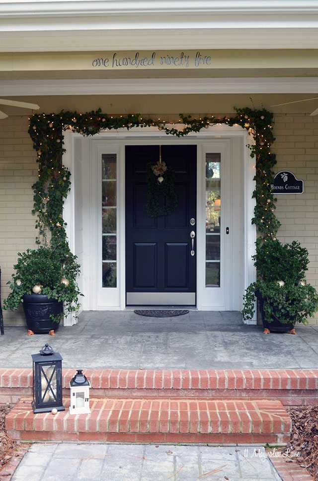 Light and Bright Front Door Decor With At Home