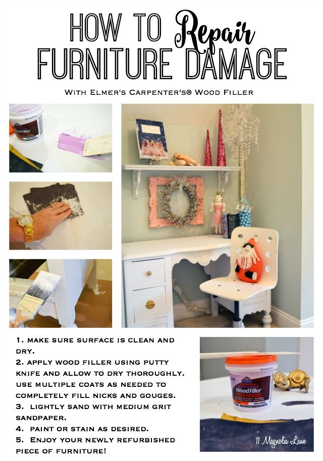 Restoring My Daughters Vintage Painted Desk   Magnolia Lane