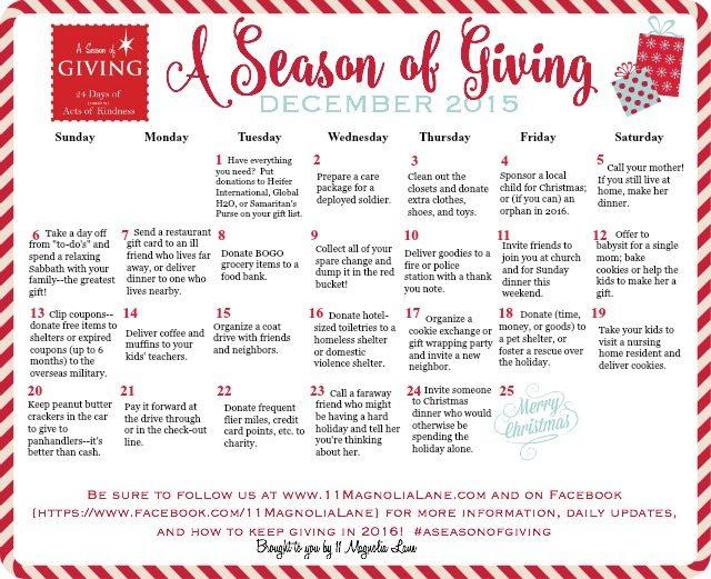 A Season of Giving 2015 | 11 Magnolia Lane