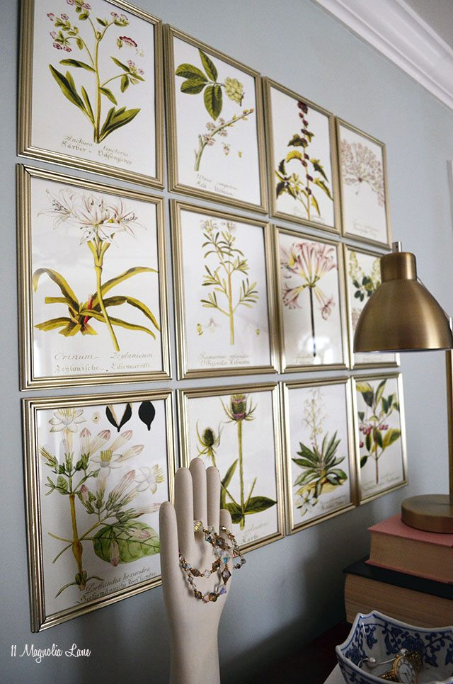 DIY botanical gallery wall | 11 Magnolia Lane