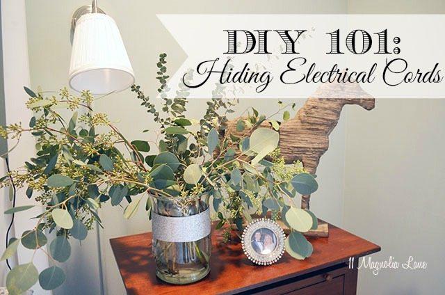 DIY 101:  Hiding Electrical Cords