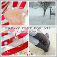 Friday Free for All–Stay Warm, Friends!
