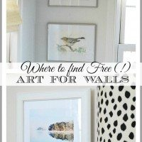 How to add ART to your walls for {practically} FREE!