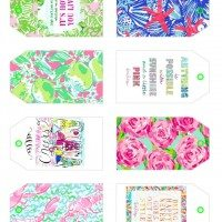 Free Printable Lilly Pulitzer Inspired Gift Tags