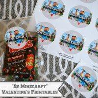 """Be Minecraft"" Valentine's Printables"