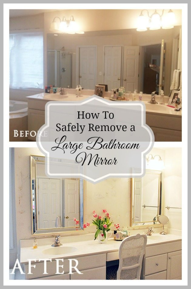 How To Safely Remove Large Bathroom Mirror