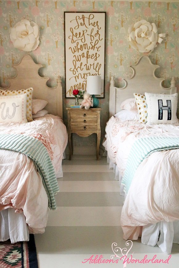 Floral Wallpaper Ideas For A Little Girls Room Or Nursery