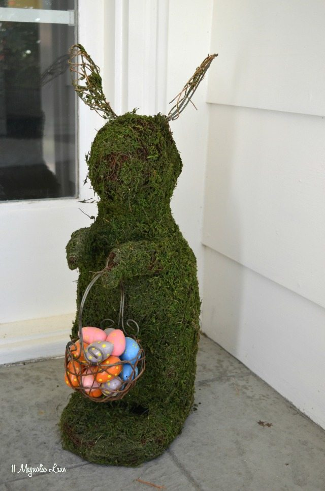Moss bunny porch