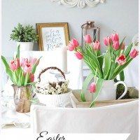 Two Easter Tablescapes & Easter Decor
