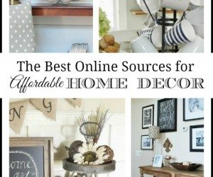Where to buy inexpensive and unique home decor online--great collection of resources for inexpensive and unique finds for your home