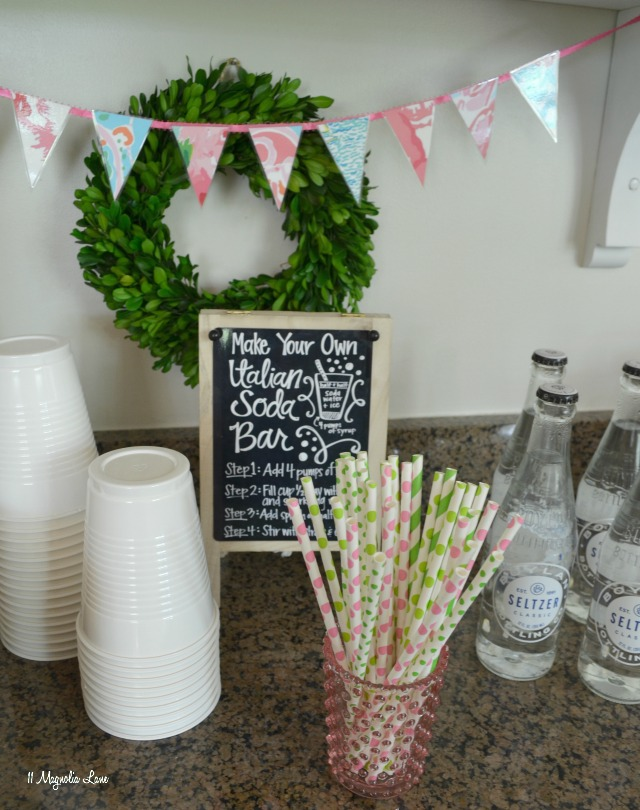 Easy entertaining: Italian soda and ice cream sundae bar   11 Magnolia Lane