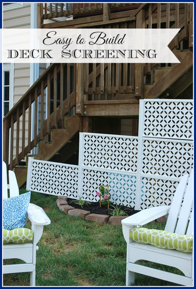 How to Conceal the Space under your Deck in 30 Minutes or Less