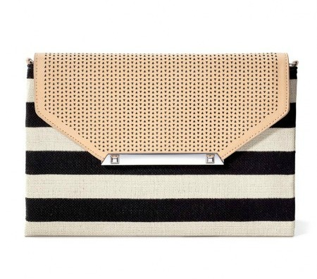 Black and white striped clutch | 11 Magnolia Lane