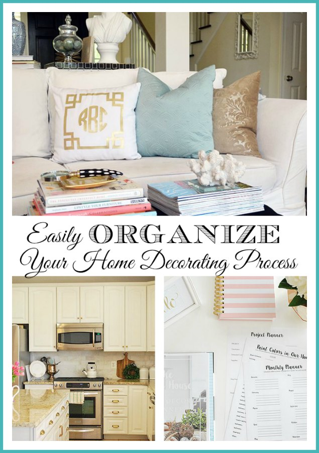 How to easily organize and make progress in decorating your entire home.  {free home