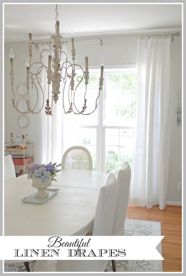 New Linen Curtains in the Dining Room