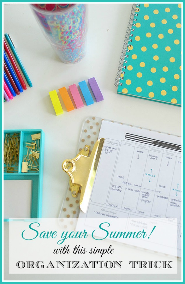 Getting Control of your Summer! {Organization Tool}