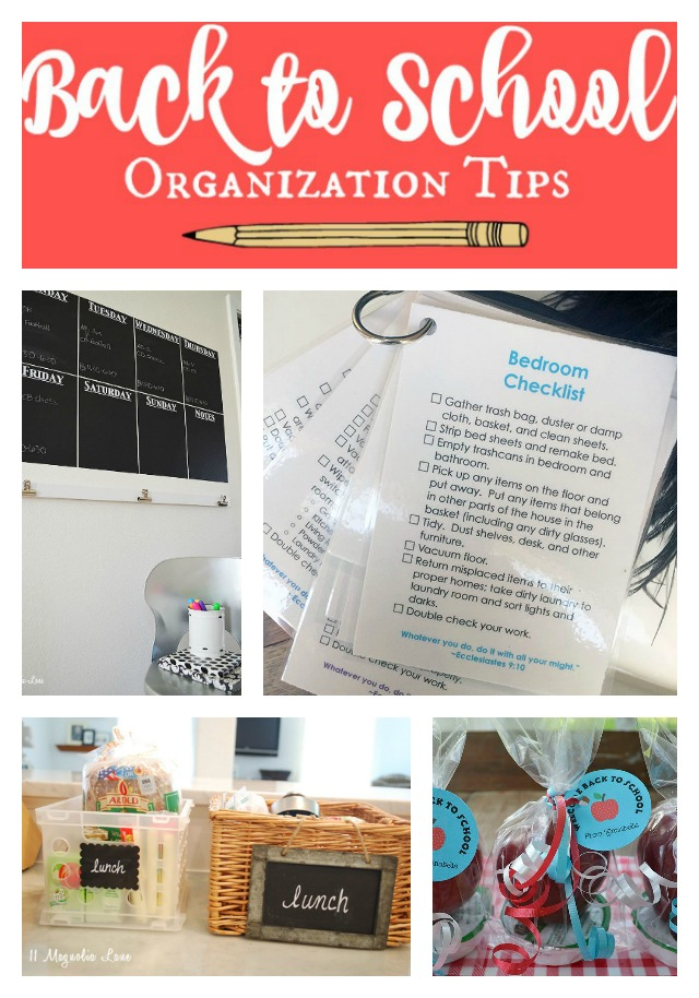 tips for an organized school year 11 magnolia lane