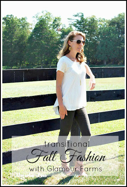 Fall Fashion over Forty--easily transitioning one outfit from summer to fall.