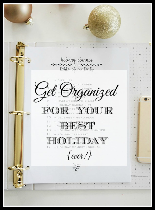 Getting Organized for the Holidays {Part 2–Gift Wrapping, Baking & What to Wear}