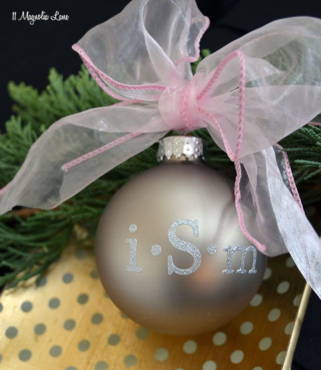 Easy DIY: Monogrammed Christmas Ornaments