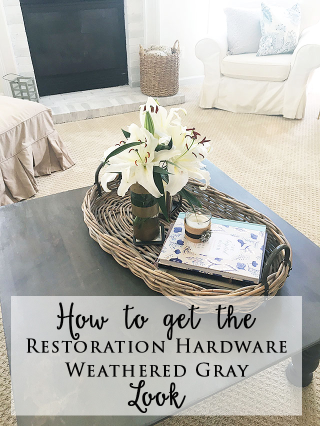 How To Get Restoration Hardware 'Gray' {Weathered} Look On Furniture