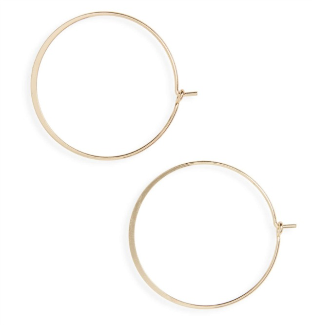 dainty gold wire hoop earrings