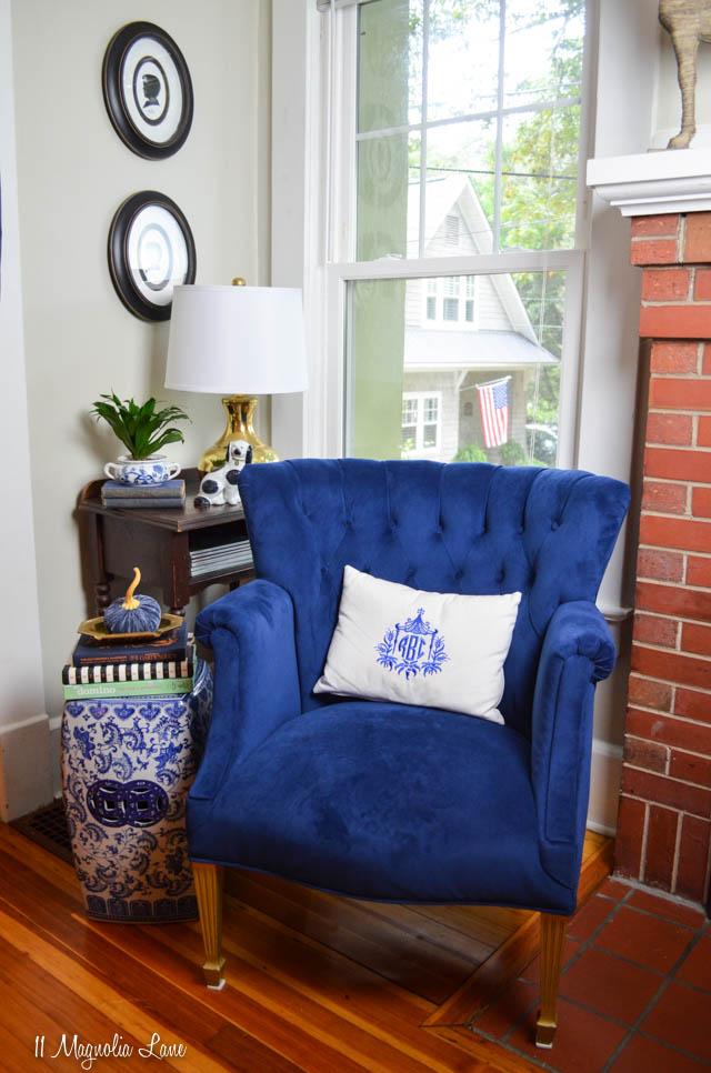 Crushing on My Blue Velvet Chair