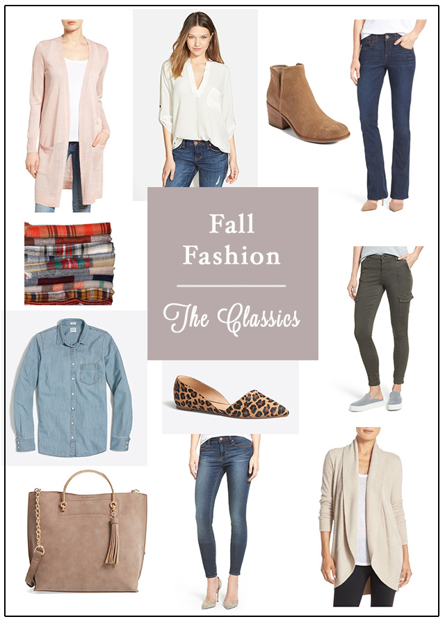 Fun Fall Fashion–The Classics + Basics