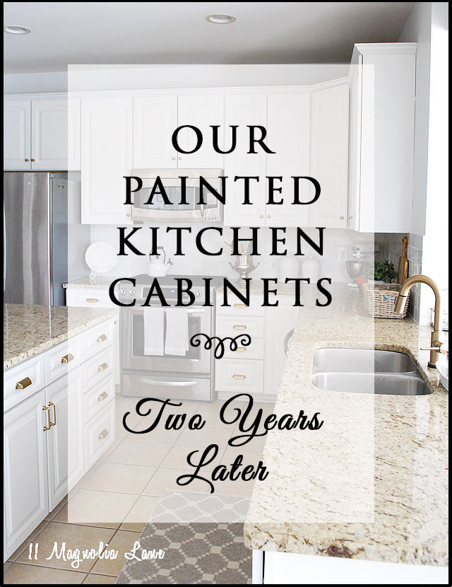 Two Years Ago This Month I Finished Painting All Our Kitchen Cabinets. I  Discussed The Whole Project And The Final Result In This Post HERE, ...