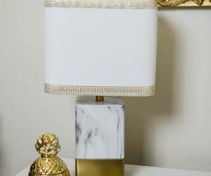 Ribbon embellished lamp shade | 11 Magnolia Lane